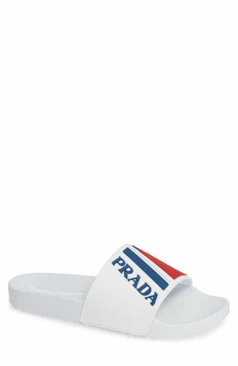 ffc3aa974fb9 Prada Linea Rossa Logo Slide Sandal (Men)