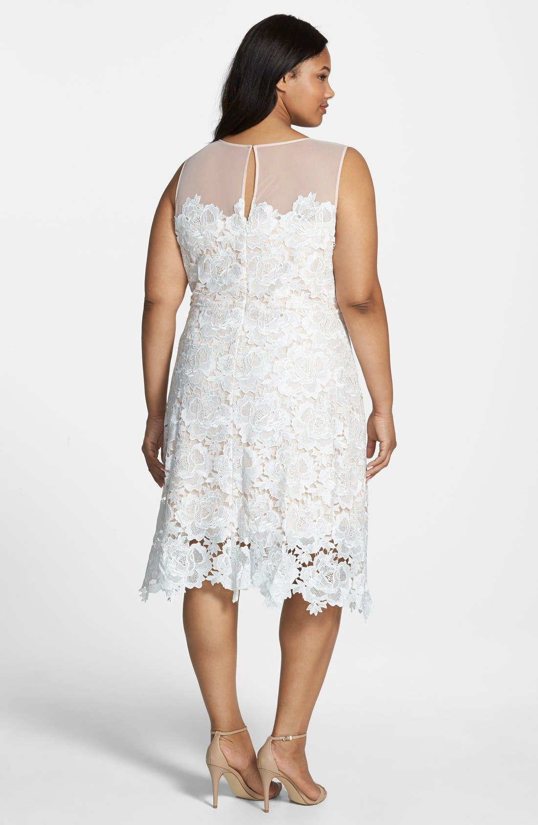Alternate Image 3  - Julia Jordan Floral Lace Sleeveless Sheath Dress (Plus Size)