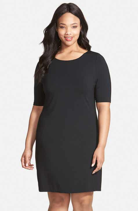 Tart 'Amelina' Cutout Detail Jersey Shift Dress (Plus Size) by TART