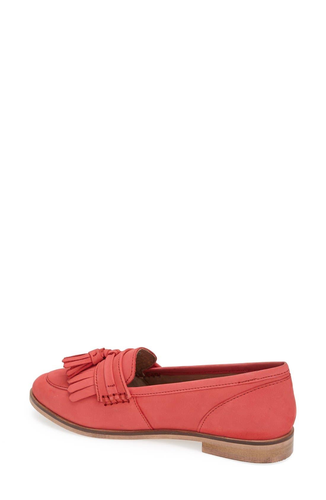 Alternate Image 2  - Topshop 'Kink' Fringed Leather Tassel Loafer (Women)