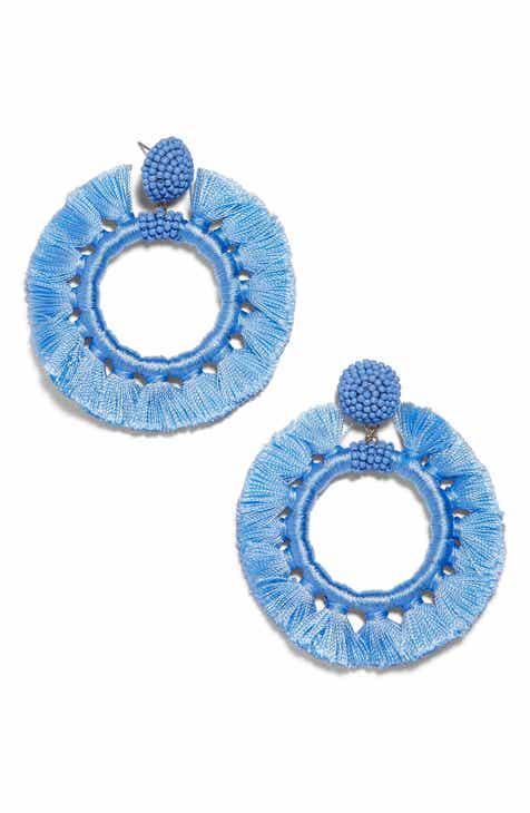 Baublebar Beaded Tel Hoop Earrings