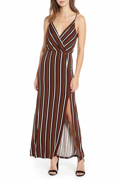 c6a70b54ec6f All in Favor Surplice Neck Knit Maxi Dress