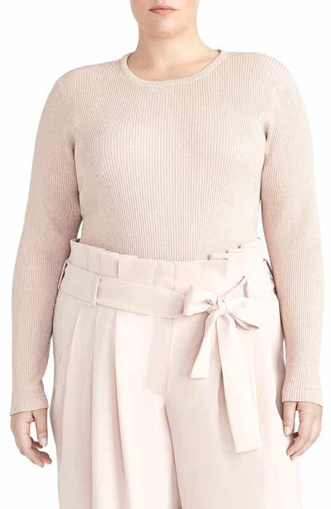 317aa80359d Rachel Roy Collection Metallic Ribbed Sweater (Plus Size)