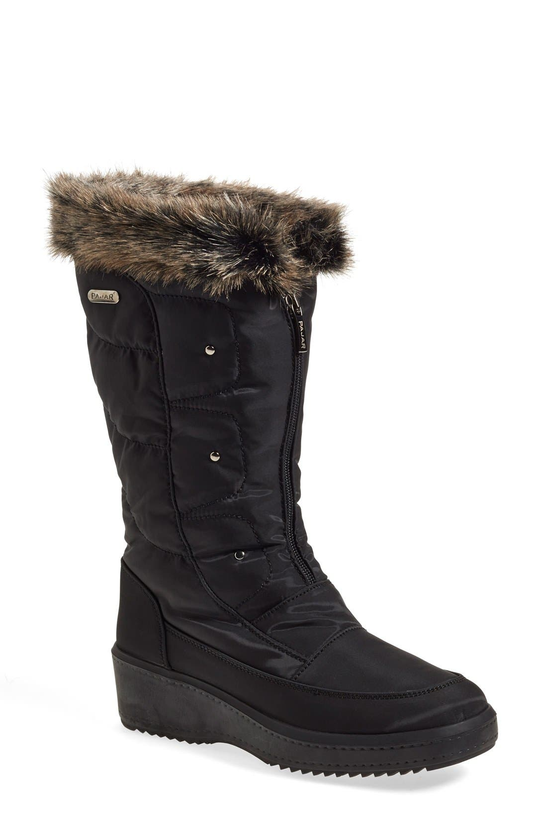 'Louise' Weatherproof Boot,                             Main thumbnail 1, color,                             Black Fabric