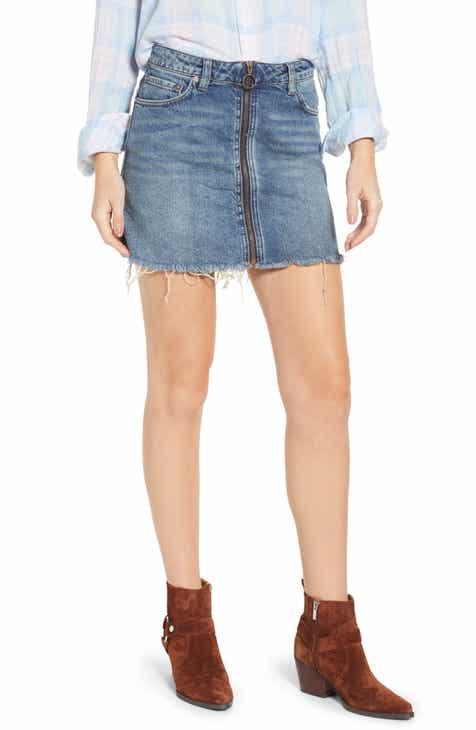 50b9e987bb2 We the Free by Free People Zip It Up Denim Miniskirt
