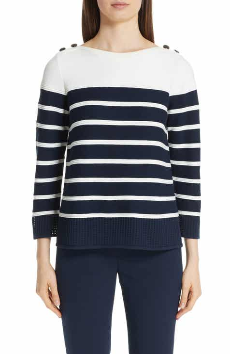 St. John Collection Technical Bird's Eye Mesh Knit Sweater by ST. JOHN COLLECTION