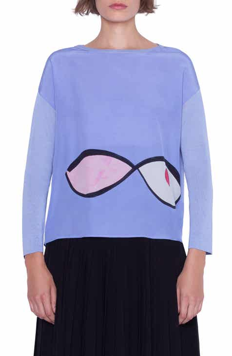 Akris Wink Print Silk Sweater by AKRIS