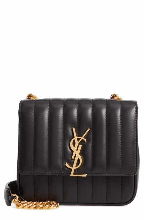cd300702ba46 ... Saint Laurent Small Vicky Quilted Lambskin Leather Crossbody Bag san  francisco c70d3 5aaca ...