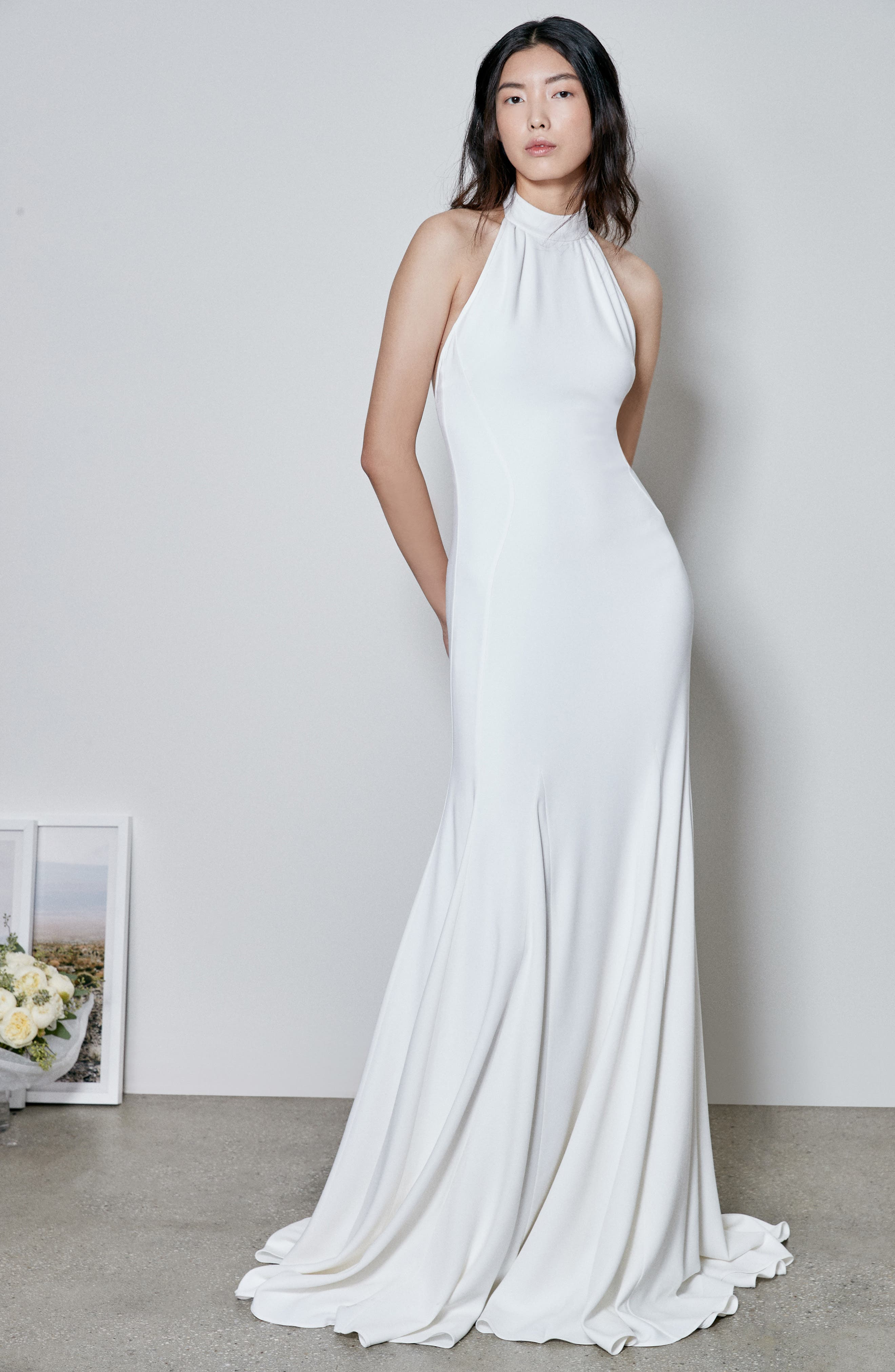 Simple Bridal Gowns with Color