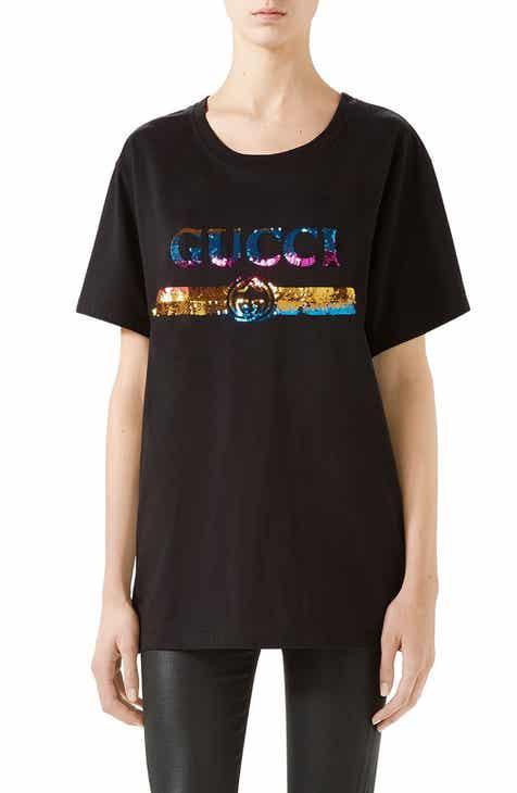 590e98e7534 Gucci Rainbow Sequin Logo Tee
