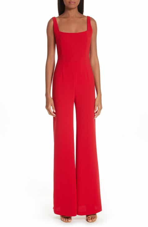 Galvan Sunrise Crepe Wide Leg Jumpsuit by GALVAN