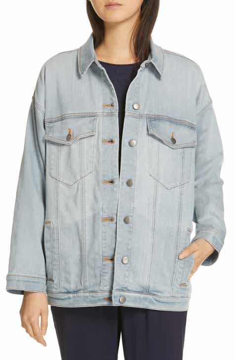 cdbefa9aae Eileen Fisher Oversize Stretch Organic Cotton Denim Jacket