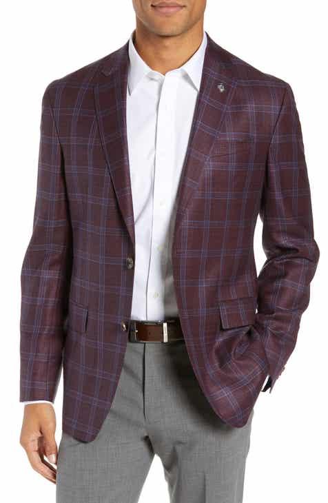 1ce120673be9e4 Ted Baker London Konan Trim Fit Plaid Wool Sport Coat