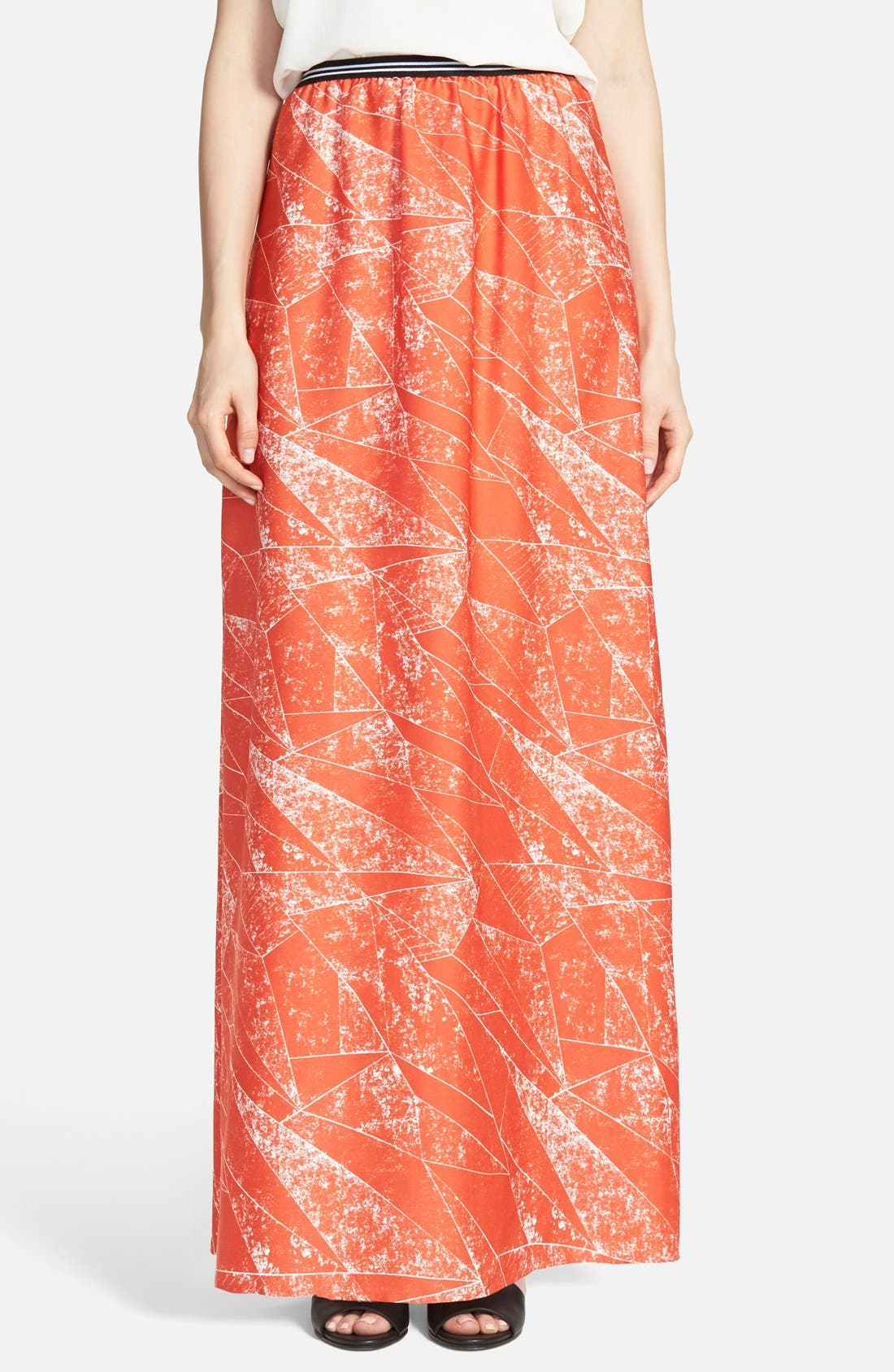 Main Image - Trouvé Soft Maxi Skirt