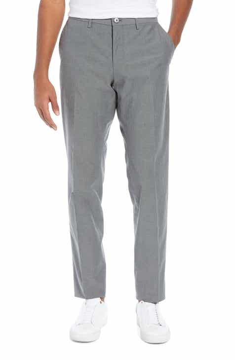 1887f8821f04 BOSS Wylson Flat Front Stretch Cotton Trousers