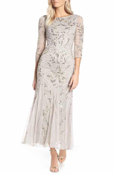 c0a24e18e0f Pisarro Nights Embellished Mesh Gown (Regular   Petite)