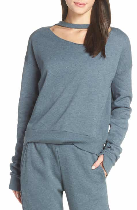e5a3e331f8178 Groceries Apparel Cutout Fleece Sweatshirt