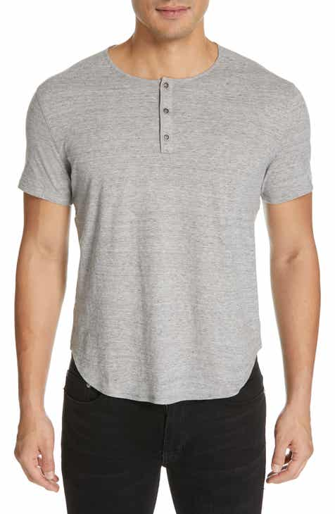 John Varvatos Short Sleeve Cotton Henley