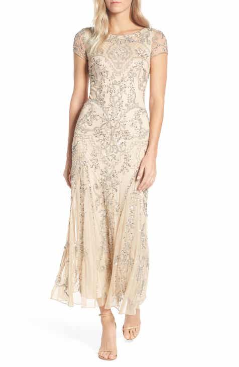 979debd4dfe0 Pisarro Nights Embellished Mesh Gown (Regular   Petite)