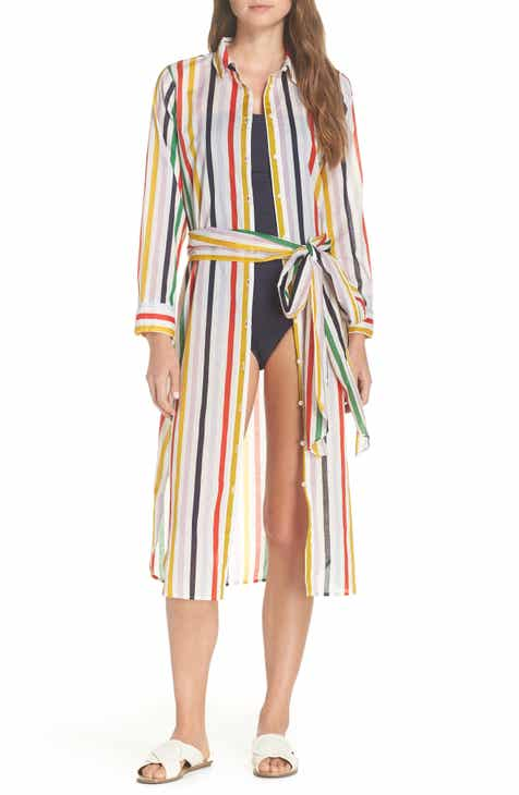 J.Crew Long Lightweight Shirtdress Cover-Up by J.CREW