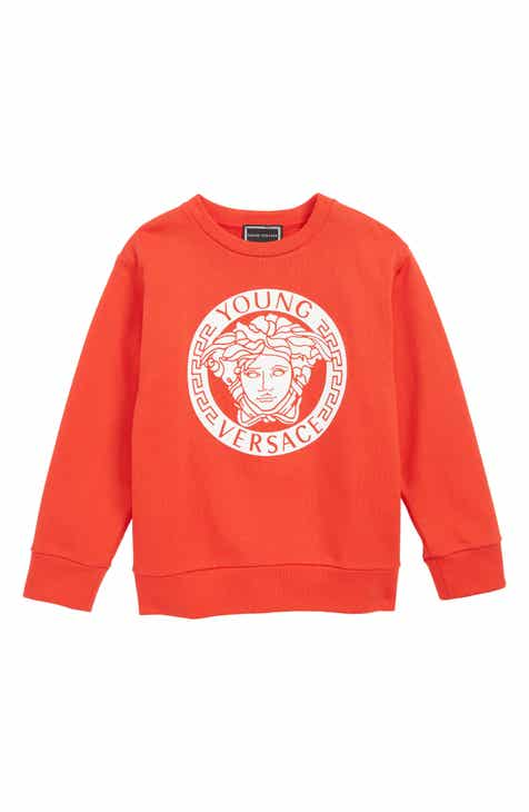 ae3d5a8ea069 Versace Medusa Logo Sweatshirt (Little Boys   Big Boys)
