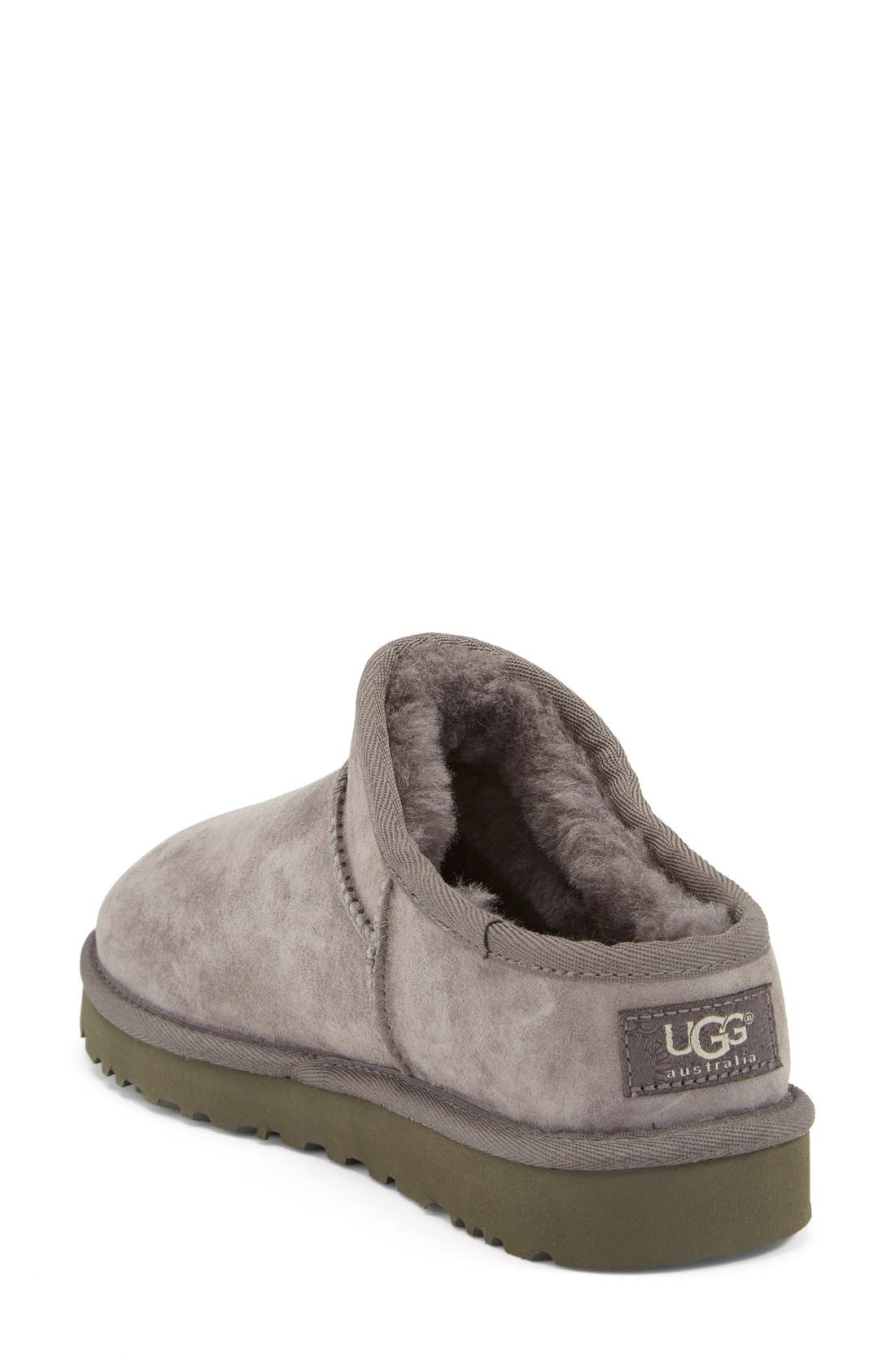 Classic Water Resistant Slipper,                             Alternate thumbnail 2, color,                             Grey