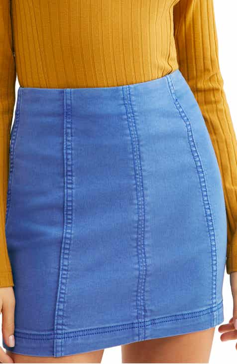 6ce36841fe0 We the Free by Free People Modern Denim Skirt