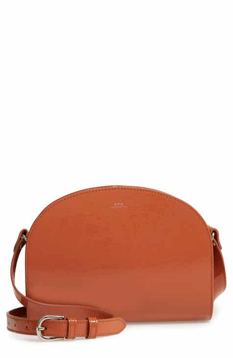 2335a511c037 A.P.C. Sac Demilune Leather Crossbody Bag