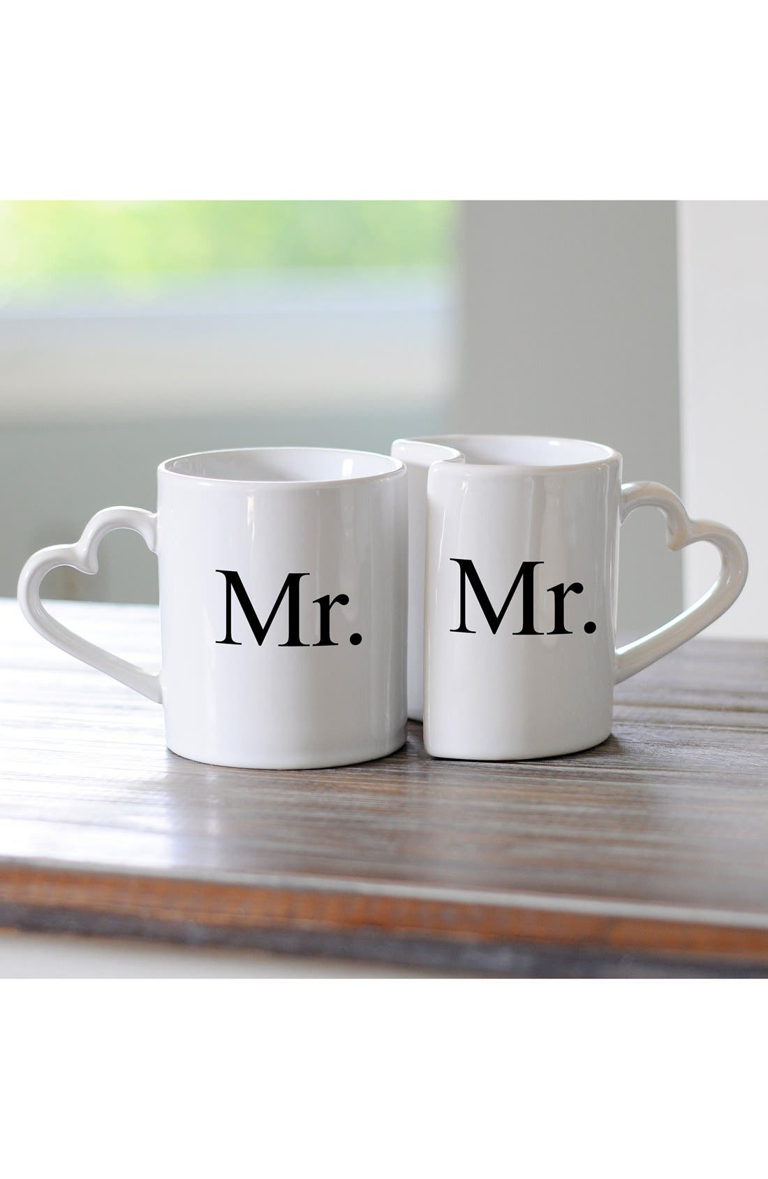 'For the Couple' Ceramic Coffee Mugs,                             Main thumbnail 1, color,                             Mr/ Mr