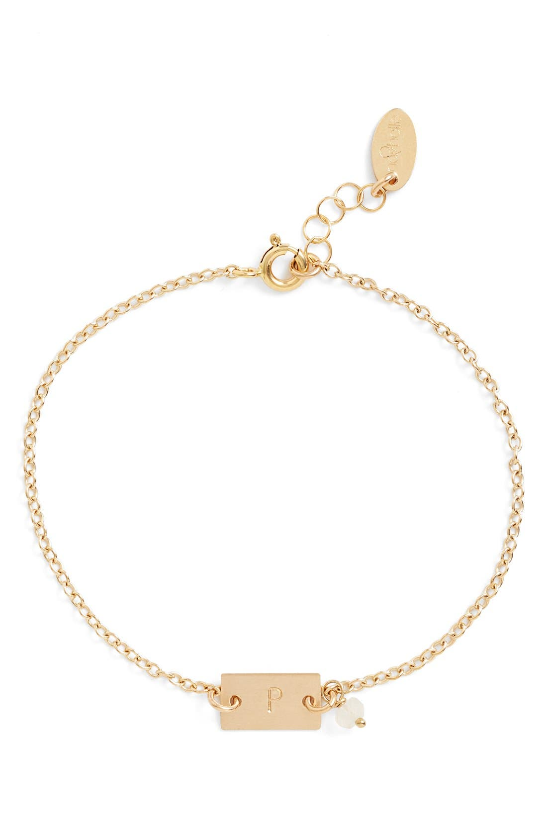 Alternate Image 1 Selected - Nashelle Shaka Initial 14k-Gold Fill Bar Bracelet