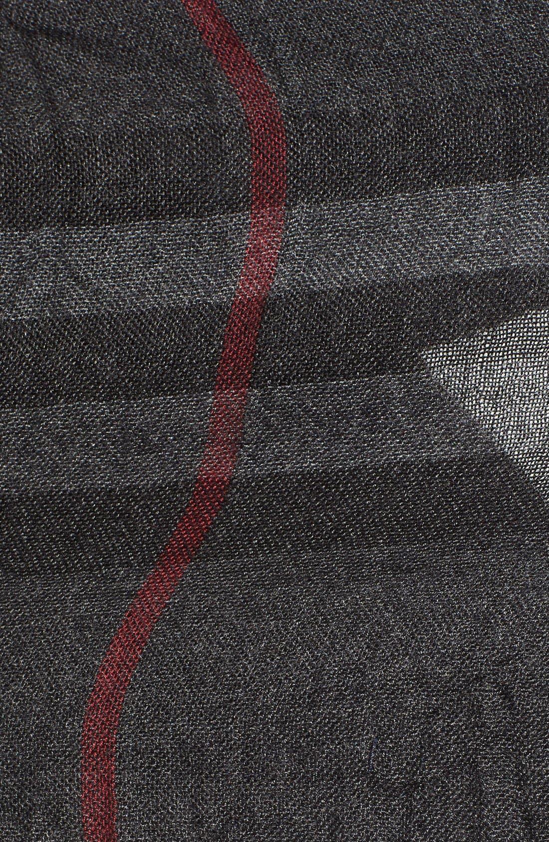 Alternate Image 2  - Burberry Crinkled Merino Wool & Cashmere Scarf