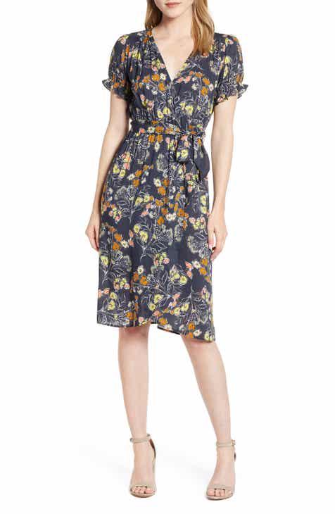 75fc8defdf889 Velvet by Graham   Spencer Floral Print Wrap Dress