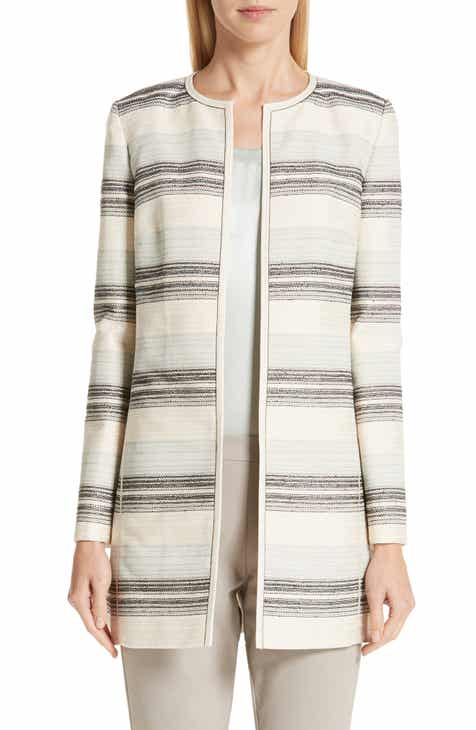 44b7c742784 Lafayette 148 New York Pria Stripe Tweed Jacket