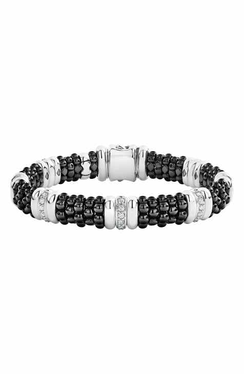 32ccd9116767 LAOGS Black Caviar Diamond 7-Link Bracelet