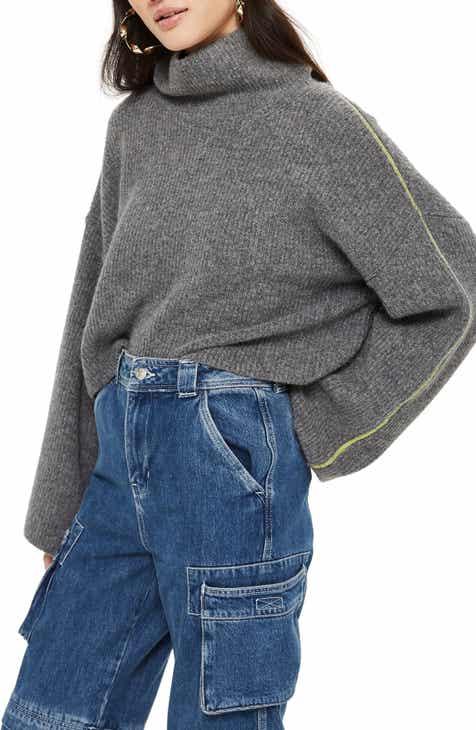 Topshop Roll Neck Crop Sweater 5f4ea3513