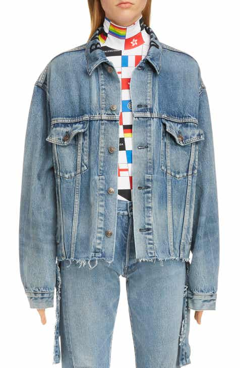 60332d32544 Balenciaga Cut Waistband Denim Jacket