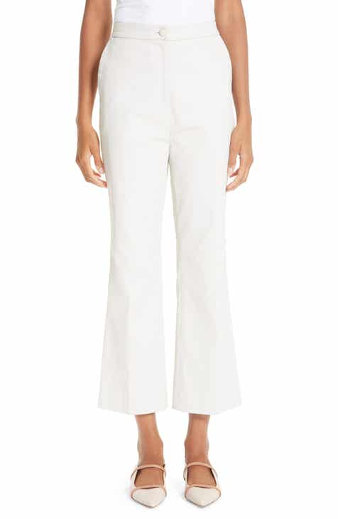 Partow Waxed Denim Crop Flare Pants by PARTOW
