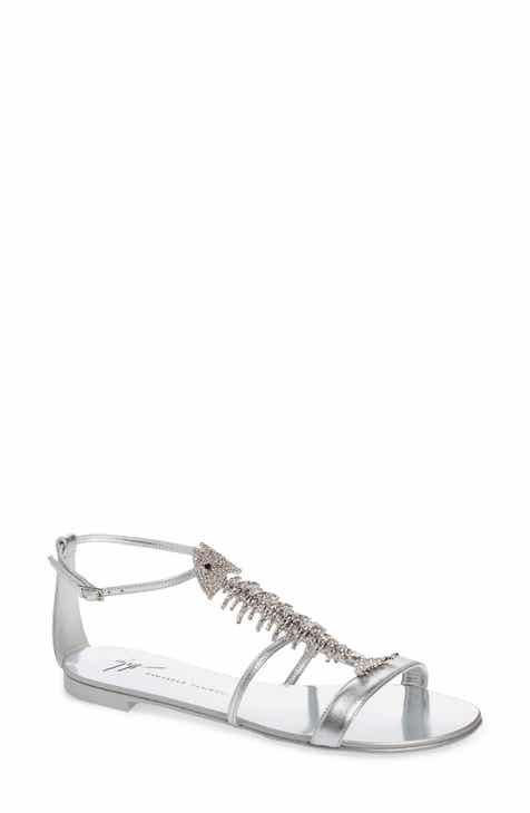5e802766b450 Giuseppe Zanotti Embellished Fish Skeleton Sandal (Women)