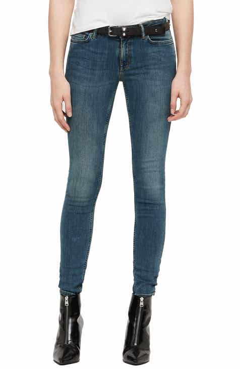 ALLSAINTS Mast Skinny Jeans (Washed Indigo) by ALLSAINTS