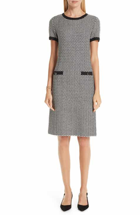 St. John Collection Mod Herringbone Knit Dress by ST. JOHN COLLECTION