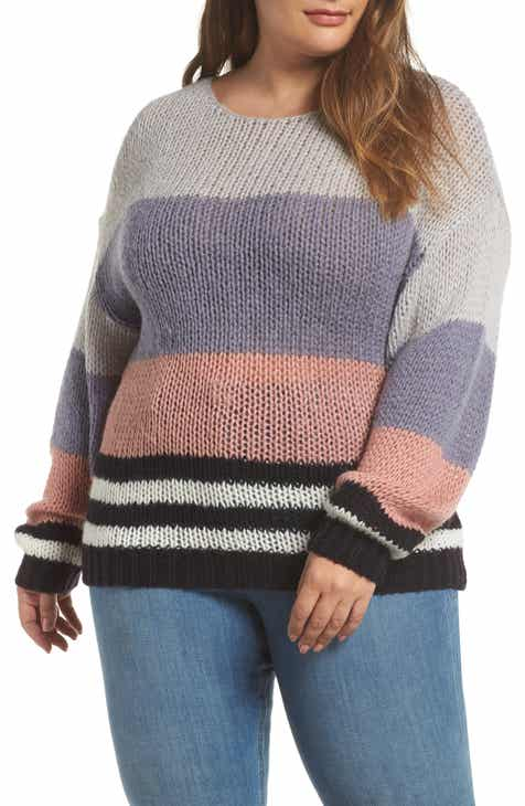 44f9096dd896c Lucky Brand Bold Stripe Pullover (Plus Size)