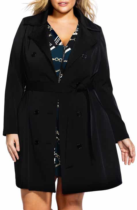 840e733c329 City Chic Lace-Up Trench Coat (Plus Size)