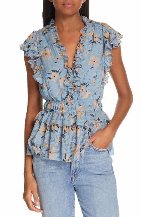 6c42c2528806c Rebecca Taylor Daniella Floral Print Top