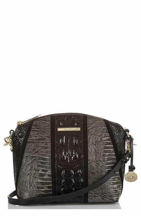 Brahmin Mini Duxbury Embossed Leather Crossbody Bag