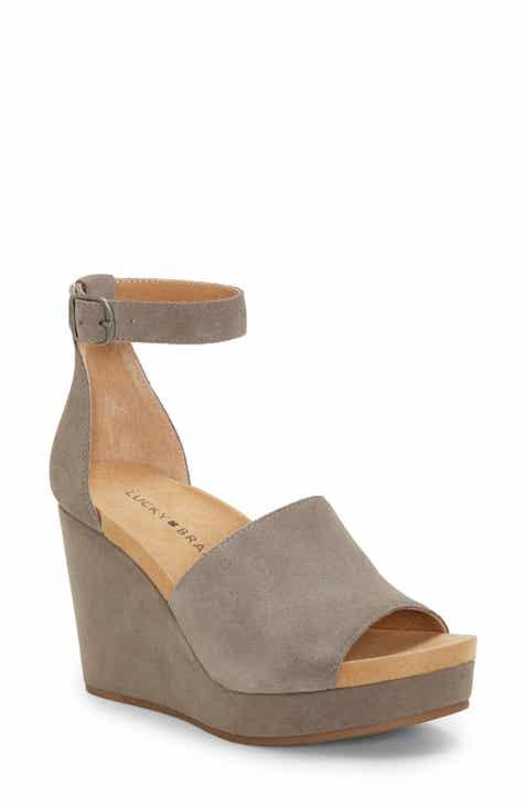 4de49d493 Lucky Brand Yemisa Wedge Ankle Strap Sandal (Women)
