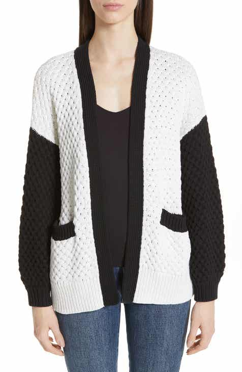 Co Colorblock Silk & Cotton Cardigan by CO
