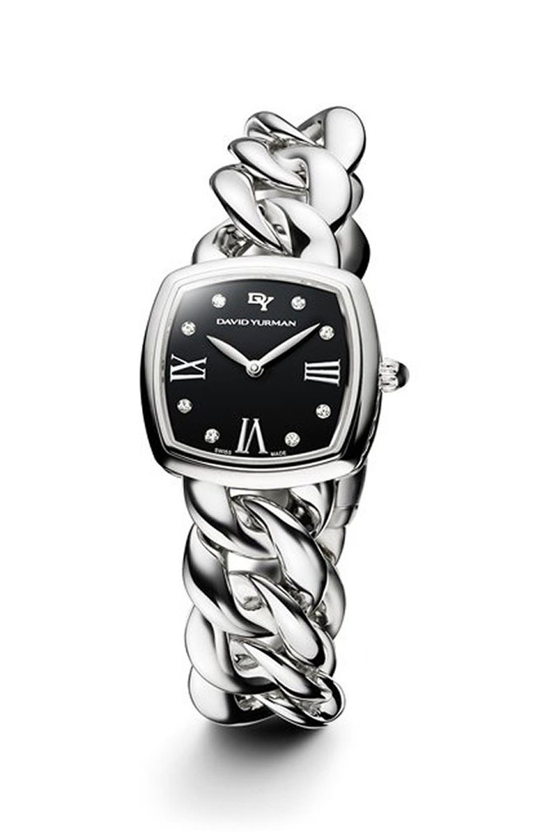 David Yurman 'Albion' 27mm Stainless Steel Quartz Watch with Diamonds