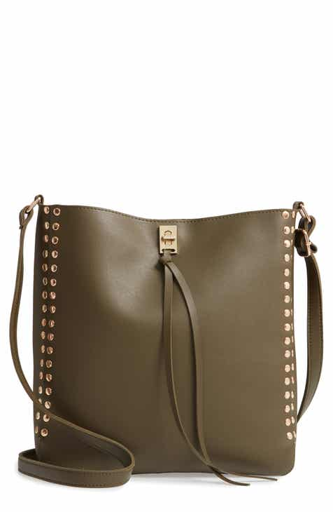 Yoki Bags Stud Trim Faux Leather Crossbody Bag