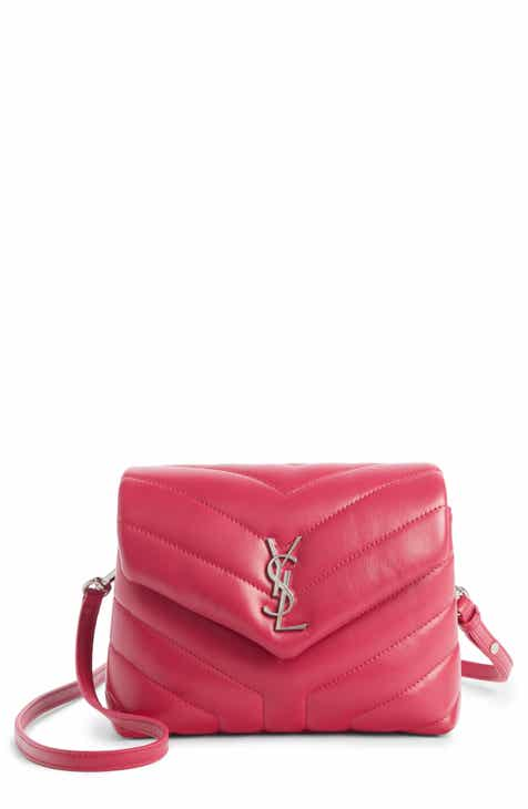 05948f89fa10 Saint Laurent Toy Loulou Calfskin Leather Crossbody Bag