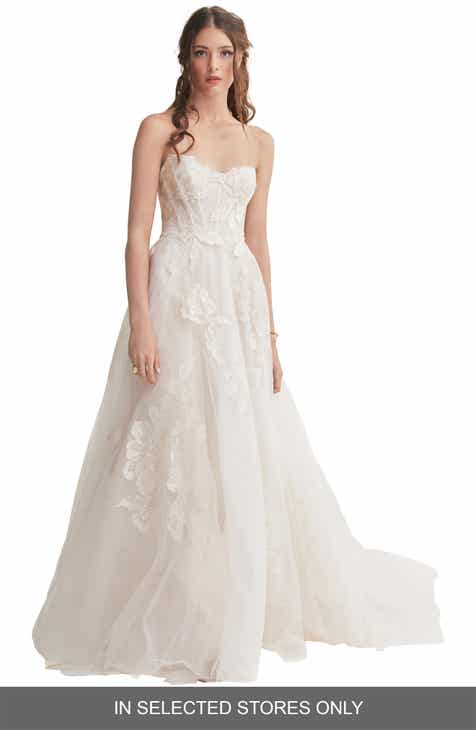 e6cbec1ef9 Willowby Harmony Strapless Lace   Tulle Wedding Dress
